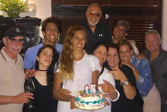 Emilio, Gloria y toda la bella familia de Lili Estefan celebraron el pasado 3 de agosto los 15 años de Lina