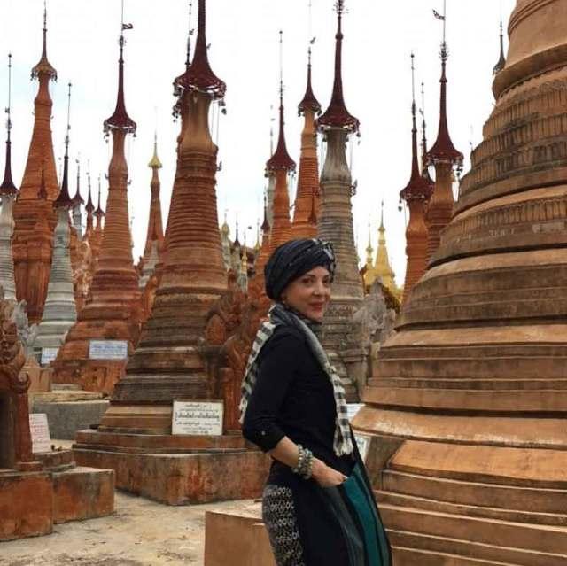 Durante su último día en Myanmar, país anteriormente conocido como Birmania