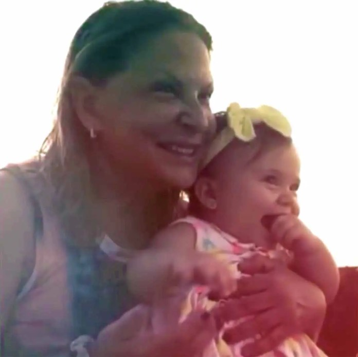 Qué padres momentos vivió la jueza con su pequeña nieta