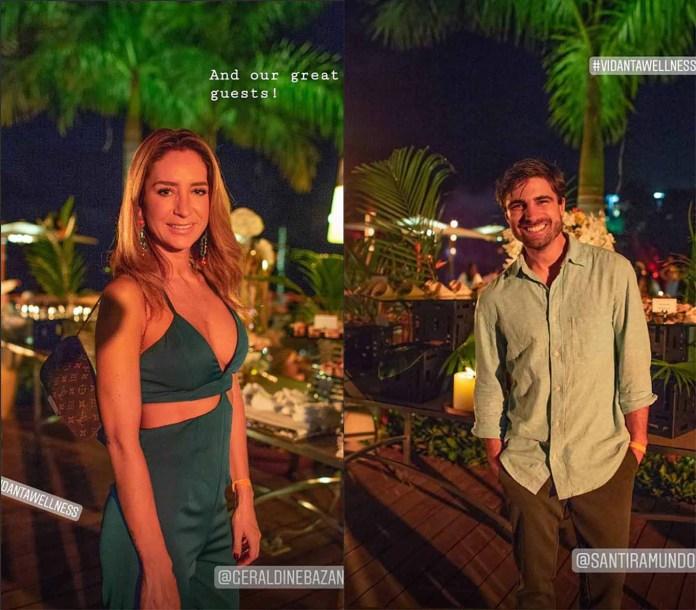 Ambos asistían a las cenas al aire libre, pero cada uno se fotografiaba individualmente