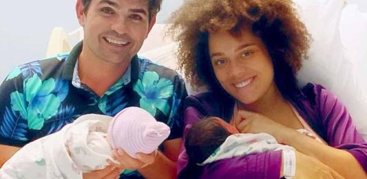 Ferdinando y su pareja Brenda ya tienen al fin a sus mellizos en brazos