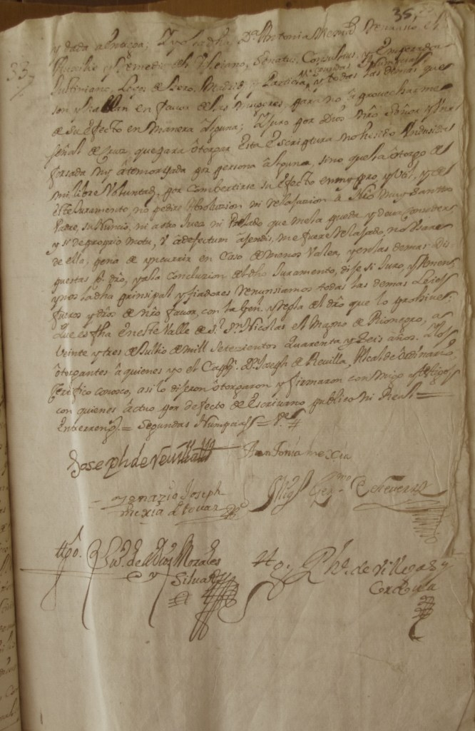 [Folio 35v] Cumplida en todo, por lo que se ha visitada. Doctor Gutiérrez