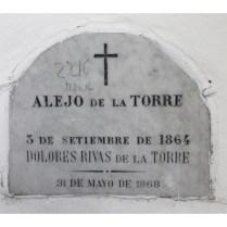 Tumba de Alejo De La Torre y Dolores Rivas De La Torre