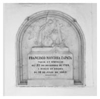 Tumba de Francisco Montoya Zapata