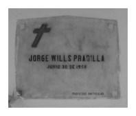 Tumba de Jorge Wills Pradilla