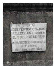 Tumba de Jose Fernandez y M Francisca Dominguez