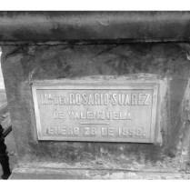 Tumba de María Del Rosario Suárez De Valenzuela