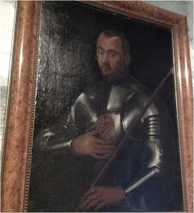 """""""Iñigo López de Loyola, con su armadura militar""""."""