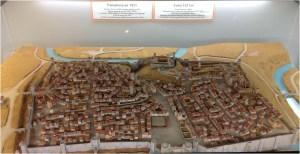 """""""Maqueta de la ciudad de Pamplona. Siglo XVI""""."""