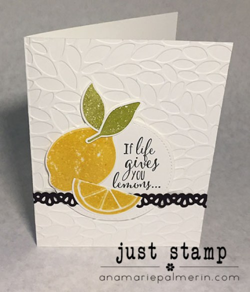 Lemon Zest Encouragement Card