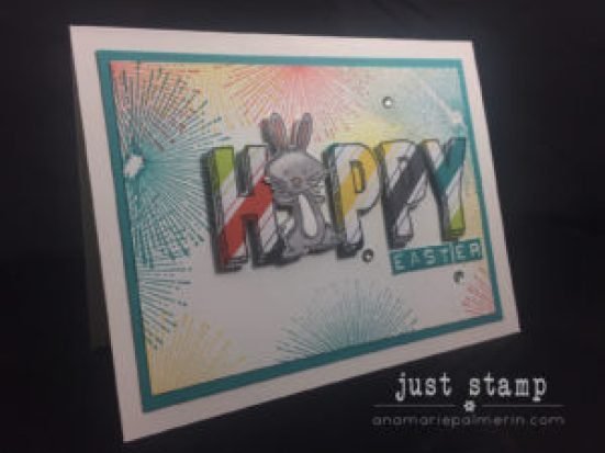 Just Stamp | Colorful Easter Bunny Card