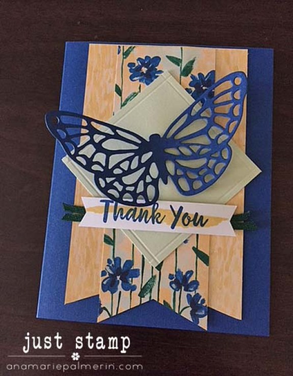 Stampin' Up! Abstract Impressions | Just Stamp | Thank You Card