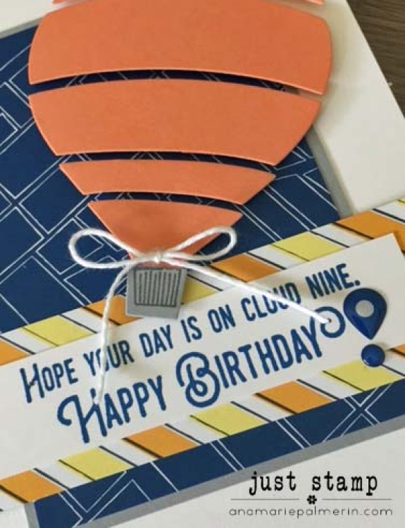 Just Stamp | Stampin' Up! | Lift Me Up Birthday Details