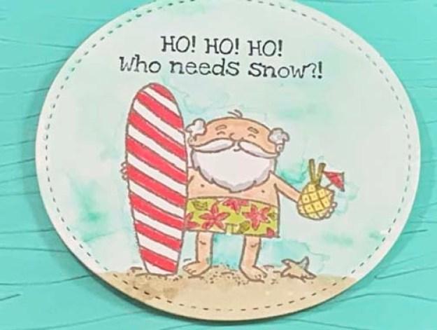 Just Stamp | So Santa Surfer 2