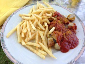 Currywurst: 50% Indian, 50% German, 100% delicious.