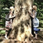"""In the States we have tree-huggers but, as Europeans are much more environmentally-conscious, here they have """"tree kissers"""". Lucky tree."""