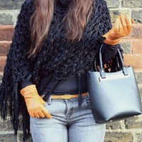 #OUTFIT - GREETING WINTER IN A PONCHO