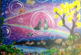 A fairy-prince couple in the bubble....