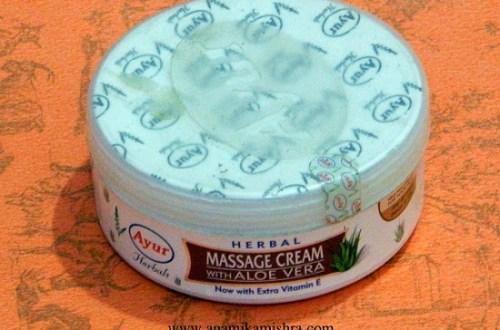 Ayur Herbal Massage Cream With Aloe Vera Review