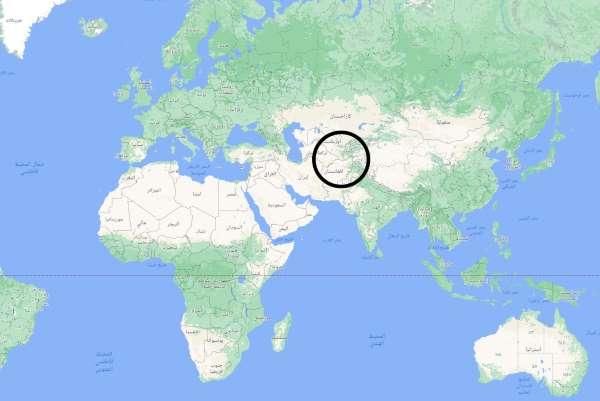 أين تقع طاجيكستان على الخريطة