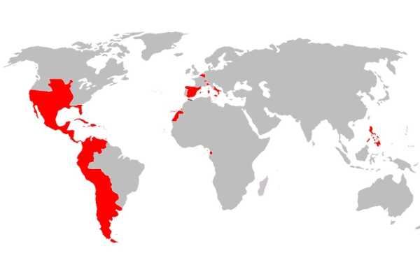 جميع دول الإمبراطورية الاسبانية