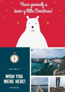 canvaクリスマスカード