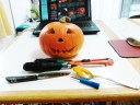 ハロウィンかぼちゃ道具です。