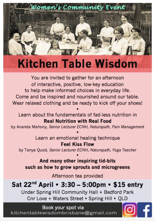 Kitchen Table Wisdom Flyer 1 22nd April 2017