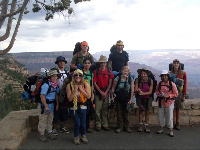 Kayla on a backpacking-hiking adventure