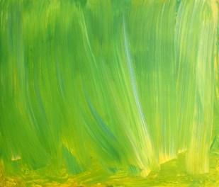 Green Curtain, 2016, 60 x 70 cm, acrylic on MDF