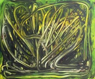 Spaghetti Bush, 2016, 50 x 60 cm, Acrylic on MDF