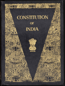 Cover page of the Constitution of Indiaa