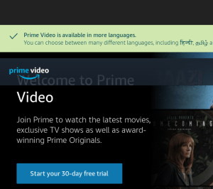 Amazon Prime Streaming Live TV