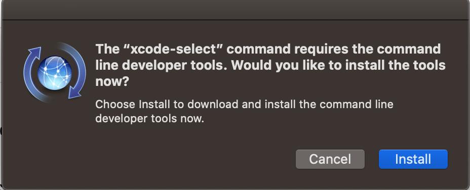 Installation confirmation window