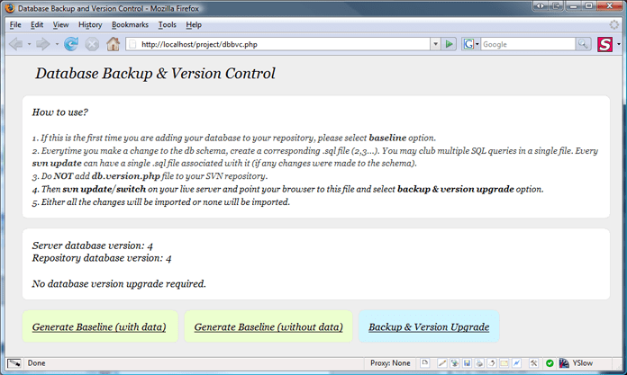 Db Backup & Versioning Script