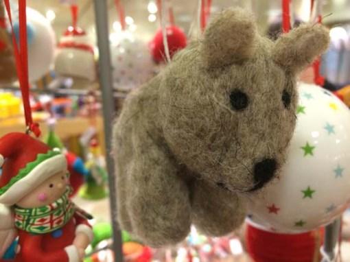 John Lewis at Christmas Christmas Wool Bear Decoration, Brown