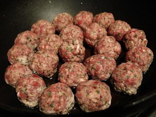 Orecchiette alla Potentina- Frying Meatballs