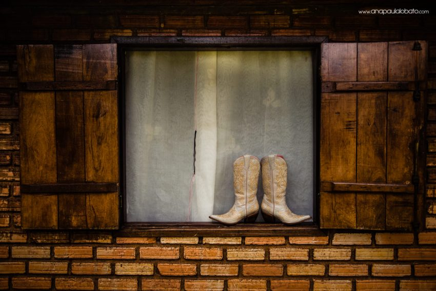 country wedding bride boots