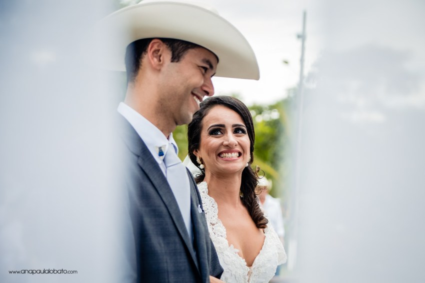 loving look of the bride