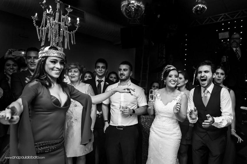 Groom is surprised by arabic dance in his wedding