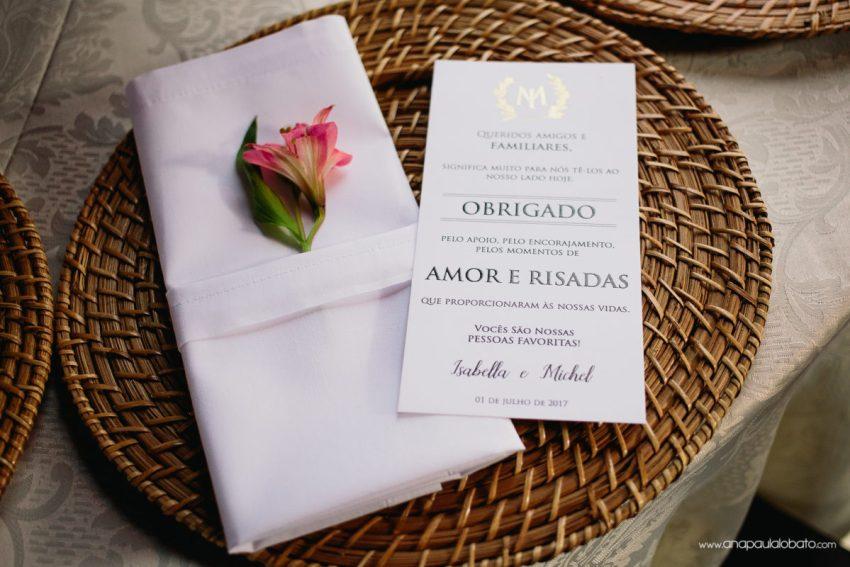 menu casamento com flores