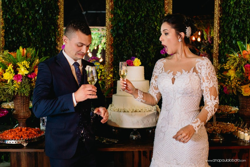 Groom slips champagne in a funny wedding toast