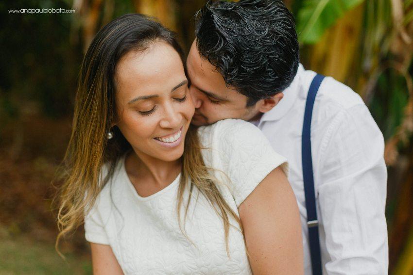 romantic hug of bride and groom