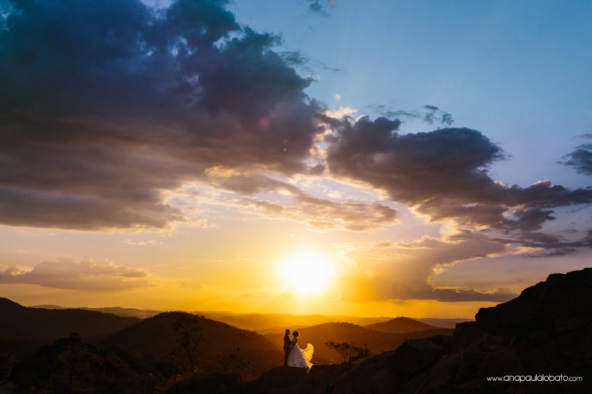 after wedding shooting in the mountains