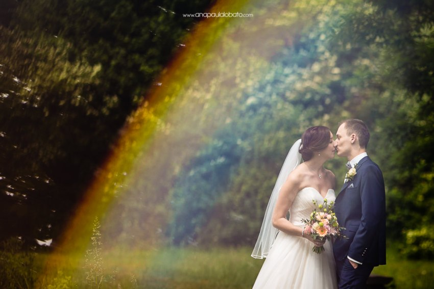 rainbow wedding photo in germany