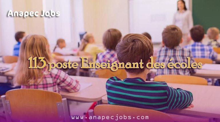 Enseignant des écoles