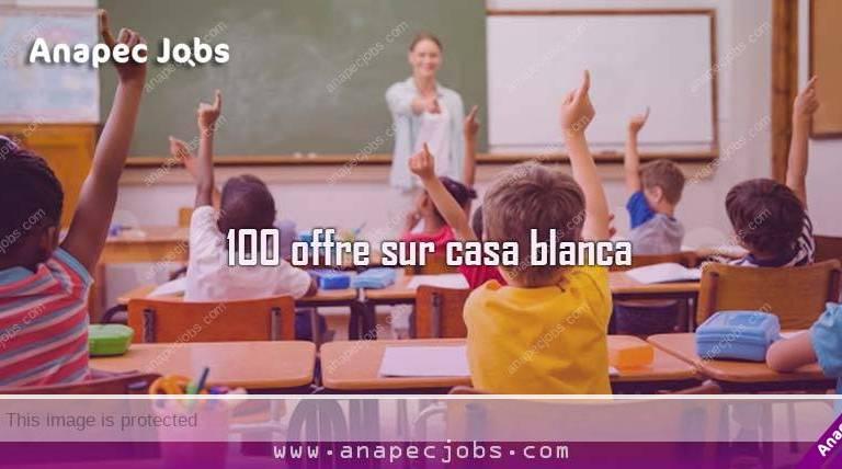 Enseignant Des écoles 100 offre sur casa blanca