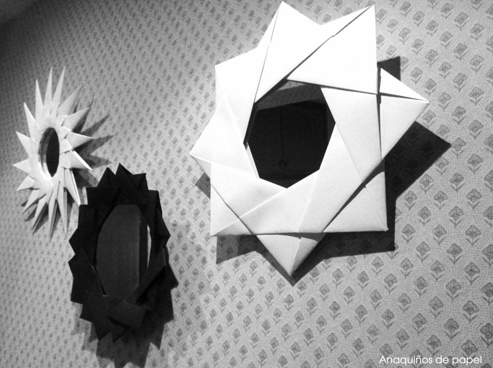 Espejos con marcos de origami – Anaquiños de Papel