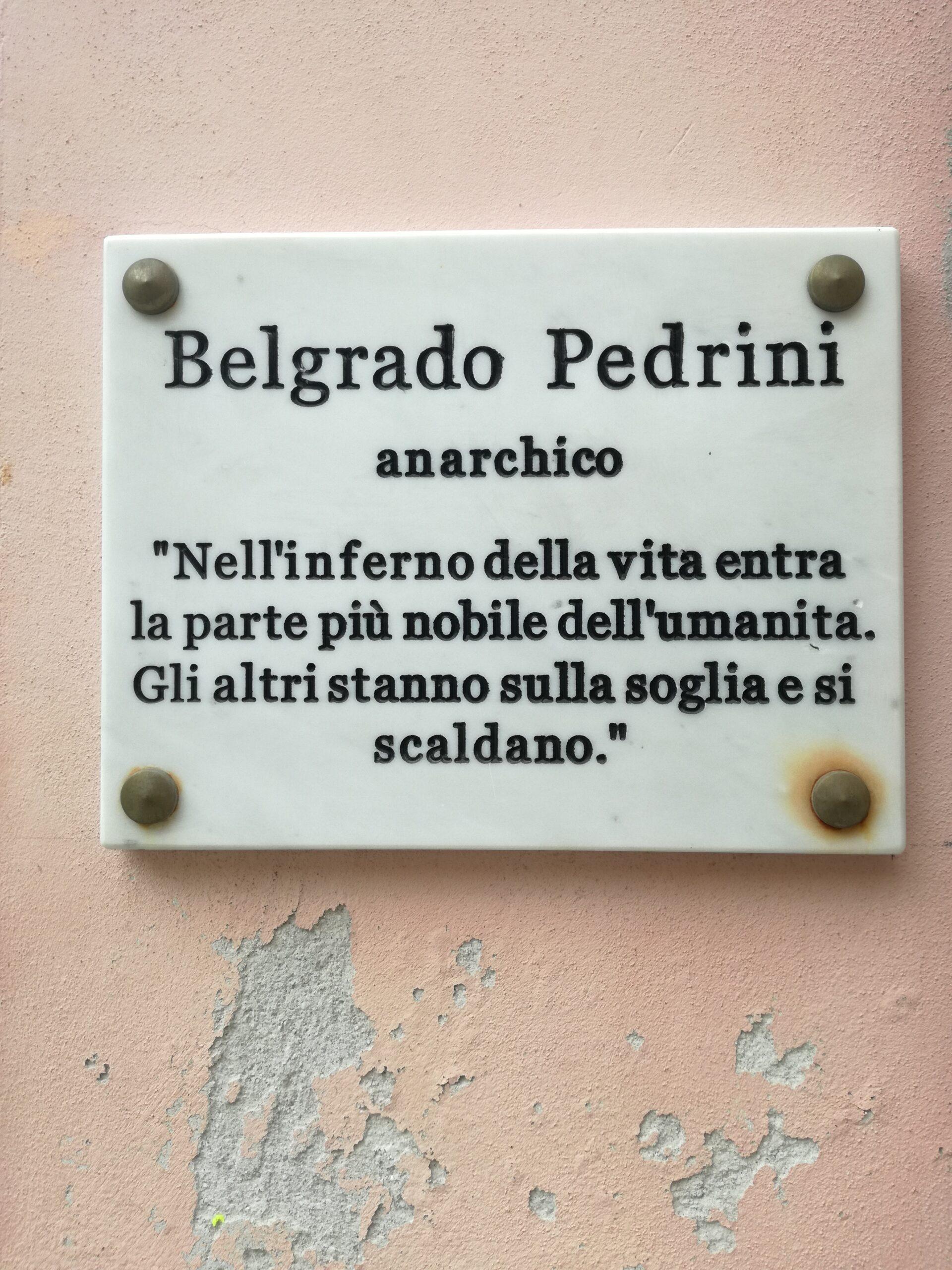 Il 5 maggio 1913  nasce a Carrara Belgrado Pedrini,