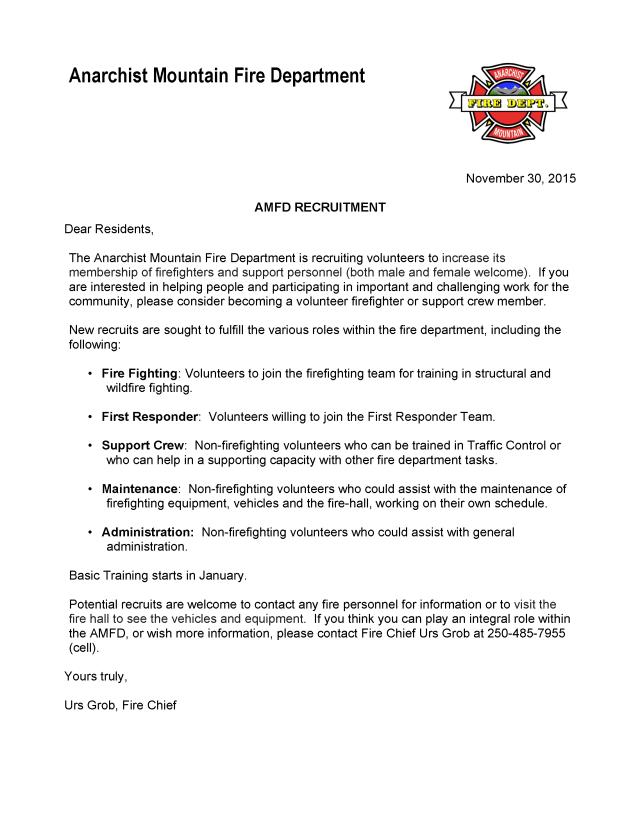 Recruitment Letter